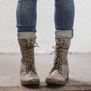 Steve Madden, the Troopa Combat Boots